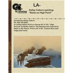 "Kelley Coburn painting-""Rams on High Point"""
