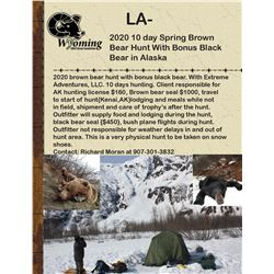 2020 10 day Spring Brown Bear Hunt With Bonus Black Bear In Alaska With Extreme Adventures