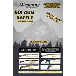 Wyoming Wild Sheep 2019 Six Gun Raffle