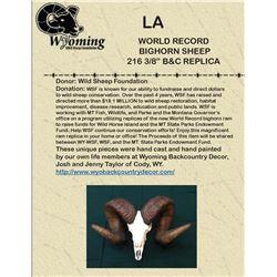 "World Record  Bighorn Sheep  216 3/8"" B& C Replica"