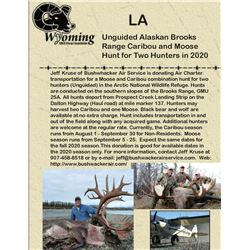 Unguided Alaskan Brooks Range Caribou and Moose Hunt for Two Hunters in 2020