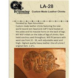 Custom Made Leather Chinks Handmade by Life Member Ryan Amundson