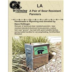 A Pair of Bear Resistant Pack Panniers