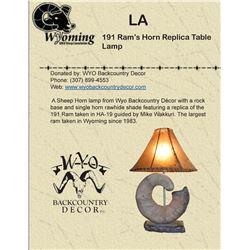 191 WYO Ram's Horn Replica Table Lamp