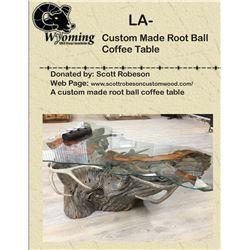 Custom Made Root Ball Coffee Table