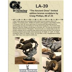 """""""The Ancient Ones"""" limited edition bronze sculpture by Craig Phillips, #8 of 25"""