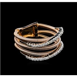0.28 ctw Diamond Ring - 14KT Two-Tone Gold