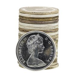 Roll of (20) 1967 Brilliant Uncirculated Canadian Dollars