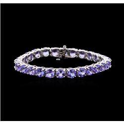 27.02 ctw Tanzanite Bracelet - 14KT White Gold