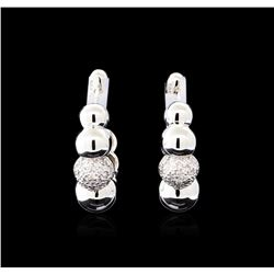 0.28 ctw Diamond Earrings - 14KT White Gold