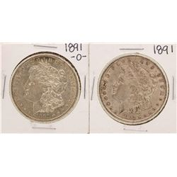 Lot of 1891 & 1891-O $1 Morgan Silver Dollar Coins