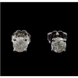 14KT White Gold 0.69 ctw Diamond Stud Earrings