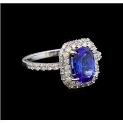14KT White Gold 1.97 ctw Tanzanite and Diamond Ring