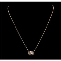 0.35 ctw Diamond Necklace - 14KT Rose Gold