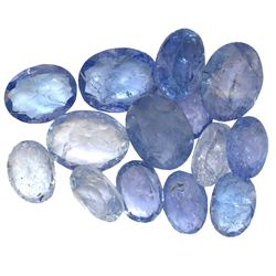 15.7 ctw Oval Mixed Tanzanite Parcel