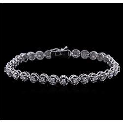 1.60 ctw Diamond Bracelet - 14KT White Gold