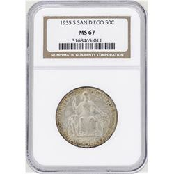 1935-S San Diego Commemorative Half Dollar Coin NGC MS67