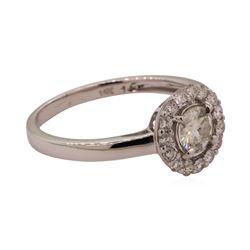 0.50 ctw Moissanite Ring - 14KT White Gold