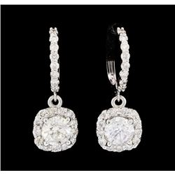 2.72 ctw Diamond Earrings - 14KT White Gold