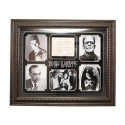 Boris Karloff Autographed Collage