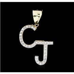 14KT Yellow Gold 1.30 ctw Diamond Pendant