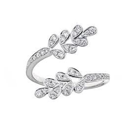 0.37 ctw Diamond Ring - 18KT White Gold