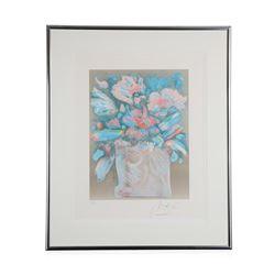 """Flowers In Vase"" by Peter Max"