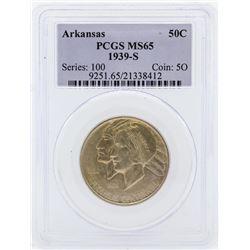 1939-S Arkansas Centennial Commemorative Half Dollar Coin PCGS MS65