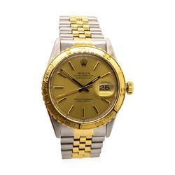 Rolex Men's Thunderbird Wristwatch - 18KT Yellow Gold and Stainless Steel