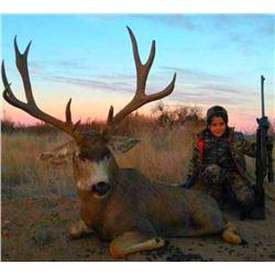 Mule Deer Hunt For One Hunter 2020