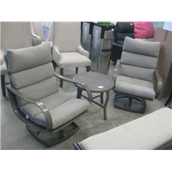 SUNBRELLA -  PATIO SET W/ 2 CHAIRS / CUSHIONS AND TABLE