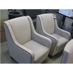 LARGE TRUE INNOVATIONS FABRIC ARM CHAIR