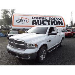 H2 -- 2013 RAM 1500 LONGHORN WHITE 281,563 KM'S