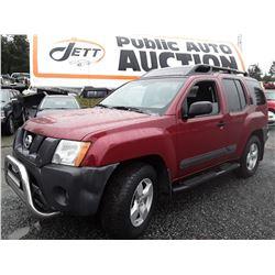H4 --  2005 Nissan Xterra  , Red , 347890  KM's