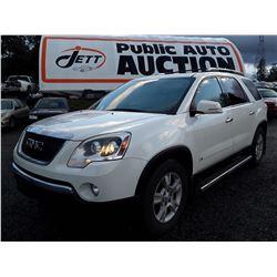 J1 --  2009 GMC Acadia Slt , White , 222911  KM's