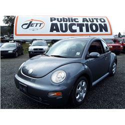 L4 --  2003 Volkswagen Beetle , Grey , 158725  KM's