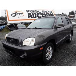 O4 --  2004 Hyundai Santa Fe , Grey , 279082  KM's