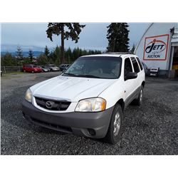 K6 -- 2007 MAZDA TRIBUTE SUV WHITE 198 059 KM'S NO DEC'S