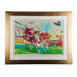 """Texas Longhorns"" by LeRoy Neiman - Limited Edition Serigraph"