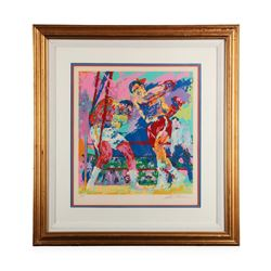"""Frazier vs. Foreman Zaire '73"" by LeRoy Neiman - Limited Edition Serigraph"