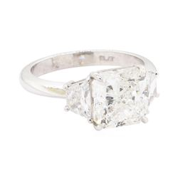 4.43 ctw Diamond Wedding Ring - Platinum