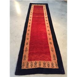 "MAGNIFICENT AUTHENTIC PERSIAN GABBEH RUNNER 2'.6""X8'.8"""