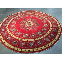 AUTHENTIC HAND KNOTTED KAZAK RUG ROUND 8X8