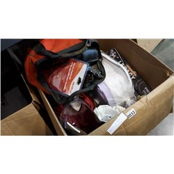 LARGE BOX OF LOST PROPERTY ITEMS