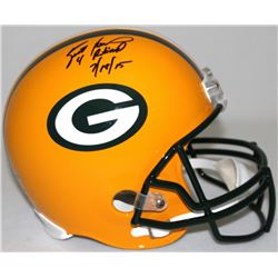 "Brett Favre Signed LE Packers Full-Size Helmet Inscribed ""4 Retired 7/18/15"" #8/44 (Favre Hologram"