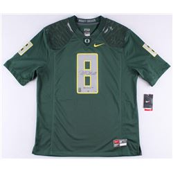 Marcus Mariota Signed LE Oregon Authentic On-Field Jersey Inscribed  Heisman 14  #8/50 (Steiner COA