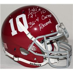 AJ McCarron Signed Alabama Full-Size Authentic Pro-Line Helmet Inscribed  36-4 Career Record  (Radtk