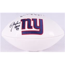 Lawrence Taylor Signed Giants Logo Football Inscribed  HOF 99  (Radtke COA)
