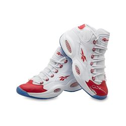 Allen Iverson Signed Reebok Question Mid Shoes with Red Toe LE 30 (UDA COA)
