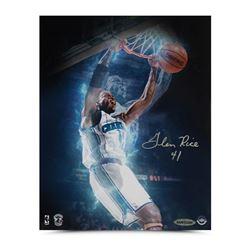 "Glen Rice Signed Hornets ""Slam Dunk"" 8x10 Photo (UDA COA)"